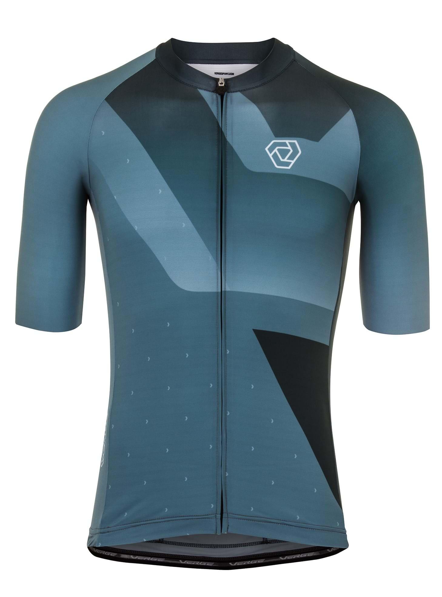 Verge Men/'s XS Strike Carrera Speedsuit Short Sleeve Pro-Length Blue Brand New
